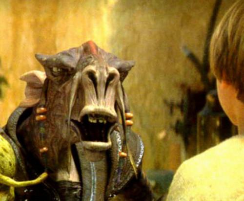 Anakin faces down Sebulba.