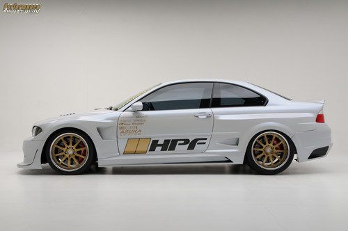 BMW wallpaper possibly with a stock car, a sedan, and an auto racing titled BMW E46 M3 TURBO BY HPF