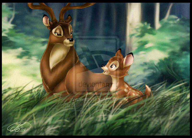 Bambi and Great Prince of the Forest - Bambi Fan Art