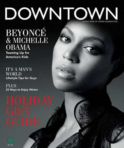 Beyoncé in the cover of Downtown Magazine