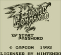 Bionic Commando - Game Boy - capcom photo