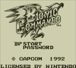 Bionic Commando - Game Boy