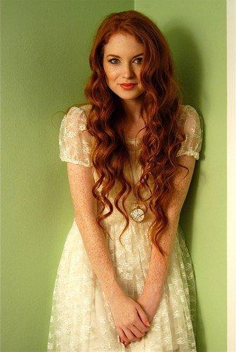 рыжие красотки фото в платьях