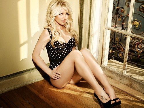 Britney Spears achtergrond containing bare legs and a leotard titled Brit