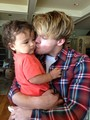 CUTE! Chord with his nephew