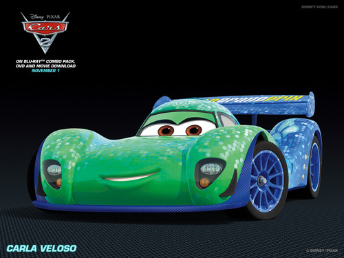 Disney Pixar Cars 2 wallpaper possibly containing an auto racing and a stock car titled Carla Veloso