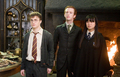 Cho Chang with Harry and Percy