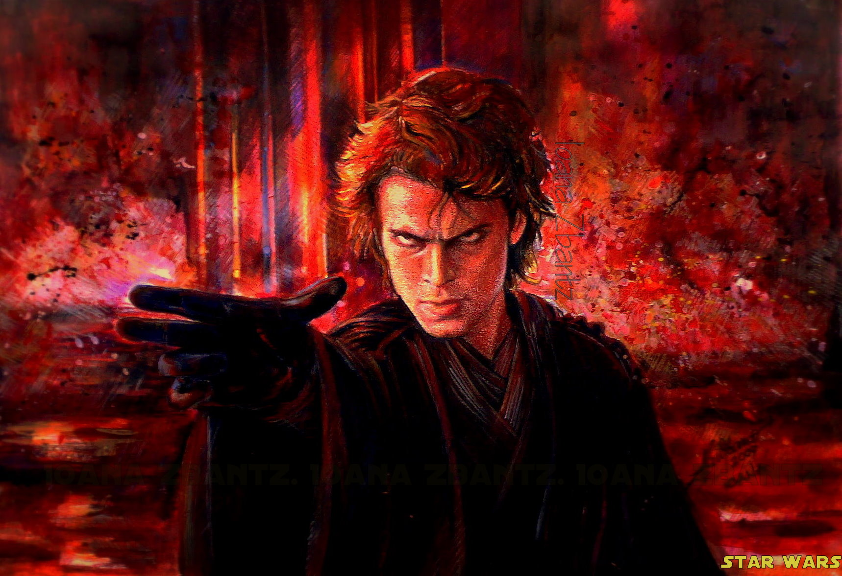 Dark Anakin on Mustafar