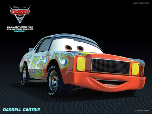 Disney Pixar Cars 2 wallpaper with a sedan called Darrell Cartrip