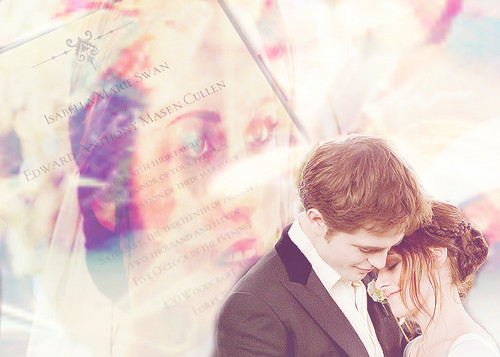 Edward/Bella - Wedding ファン Art