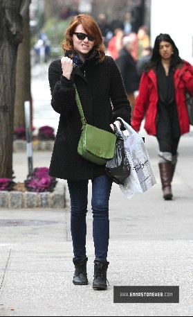 Emma Stone Out In Manhattan Jan 8,2012