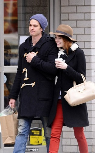 Emma Stone and Andrew Garfield out for a romantic stroll in New York City (January 8).