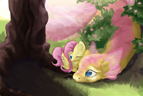 Fluttershy's dragon