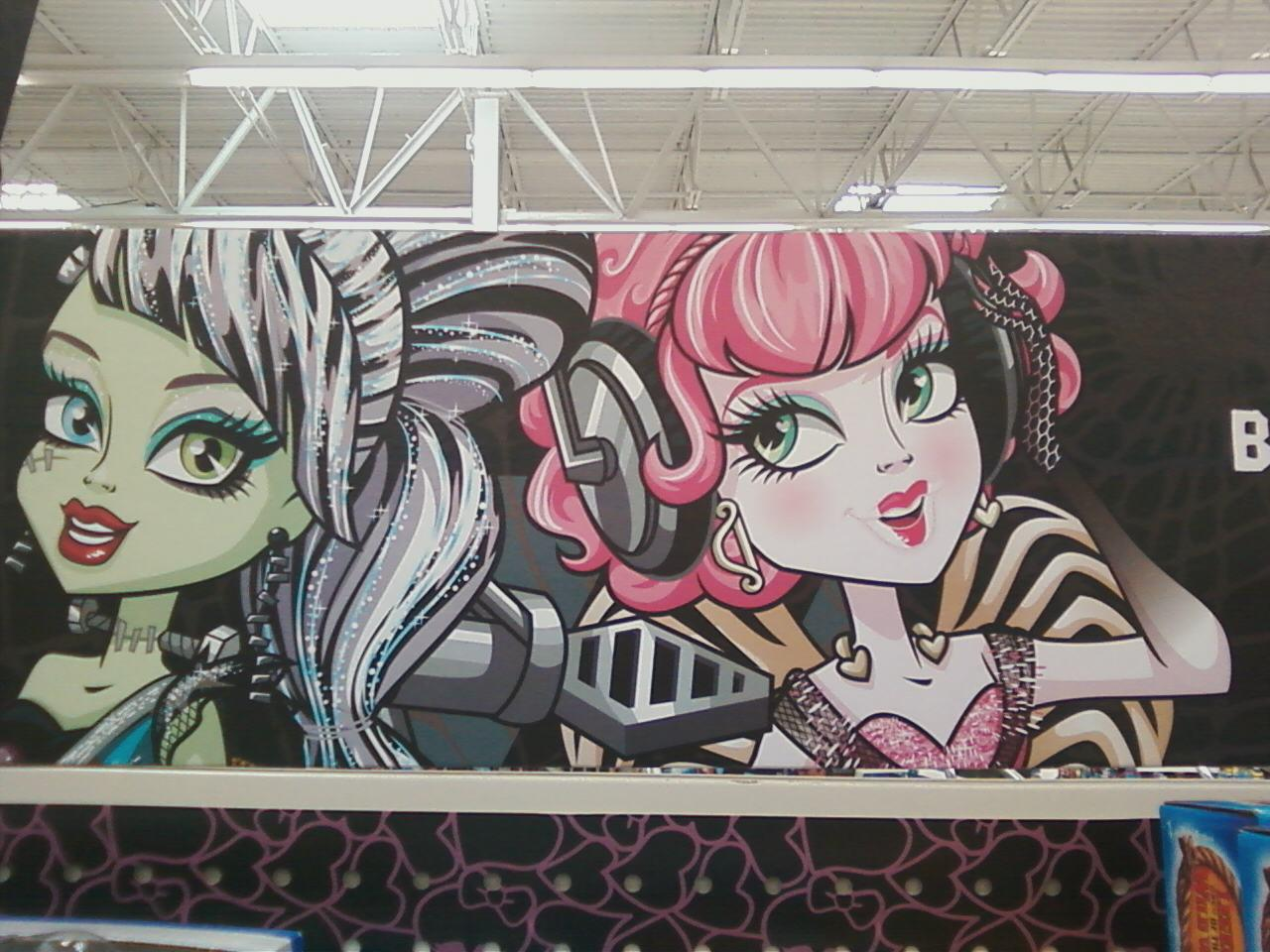 Frankie and Cupid at Walmart - monster-high photo