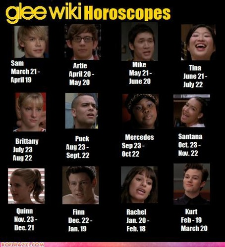 Glee Horoscopes