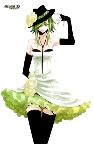 Gumi (Vocaloids) wallpaper possibly containing a bouquet called Gumi Megpoid