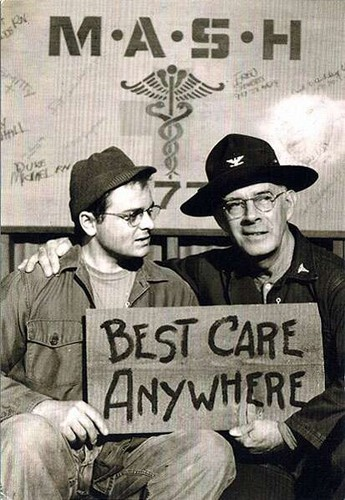Harry morgan and Gary Burghoff