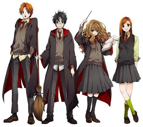 Harry Potter wallpaper possibly containing a surcoat titled Harry Potter Anime