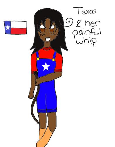 হেটালিয়া Smackdown: Texas and Her Painful Whip