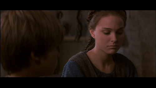 Anakin Skywalker fond d'écran possibly containing a sign and a portrait entitled Him and Padme, souper at the Skywalker residence.