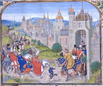 "Isabella, ""She-wolf of France"", Queen of England, enters Paris."