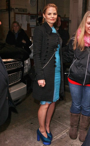 "Jan 6, 2012 | Signs autographs outside ""Live With Kelly"" in New York City"
