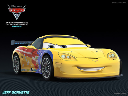 Disney Pixar Cars 2 Hintergrund probably containing a sports car called Jeff Grovette