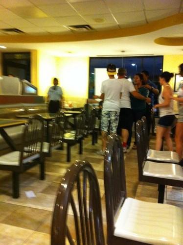 Justin, Selena, McDonalds