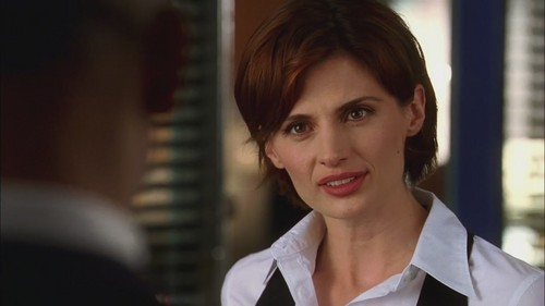 Kate Beckett پیپر وال probably containing a portrait titled Kate Beckett - 1x01 - Flowers for your Grave