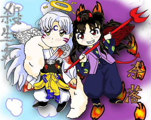 Naraku and Sesshomaru fond d'écran with animé titled MDR