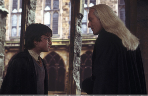 Lucius Malfoy and Harry Potter