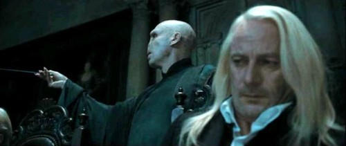 Lucius Malfoy and Lord Voldemort