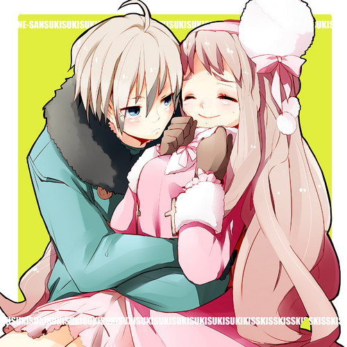 Hetalia Couples! karatasi la kupamba ukuta containing anime entitled Male! Belarus x Fem! Russia
