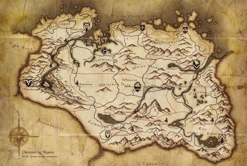 Map of Skyrim - elder-scrolls-v-skyrim Photo