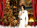 michael-jackson - MichaelJackson on Christmas wallpaper