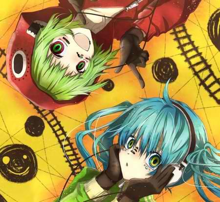 Miku Hatsune and Gumi Megpoid