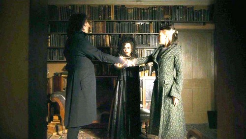 Narcissa and Bellatrix with Snape