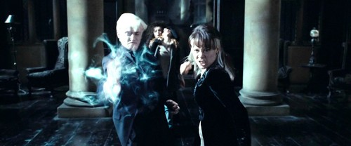 Narcissa and Draco Malfoy with Bellatrix