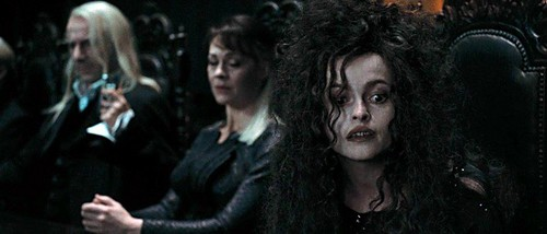 Narcissa and Lucius with Bellatrix