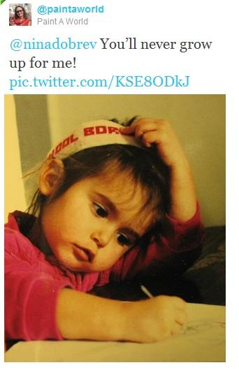 Nina's mama bday tweet