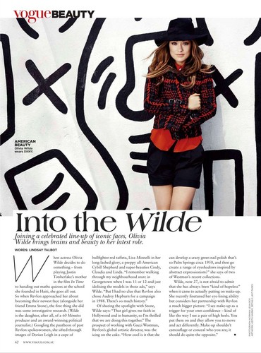 Olivia Wilde-Vogue Australia February 2012