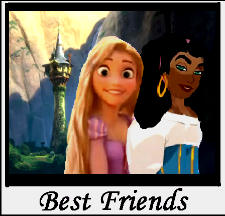 Rapunzel &amp; Esmeralda Best Friends :D - the-hunchback-of-notre-dame-and-tangled Photo