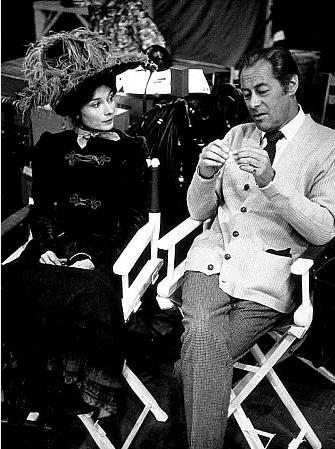 Rex Harrison and Audrey Hepburn in Costume