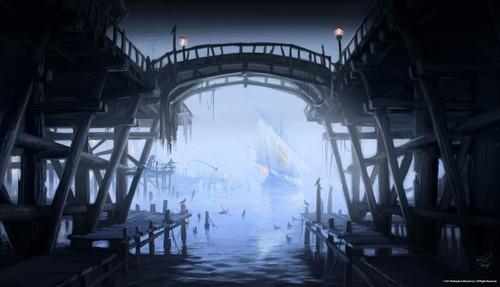 Elder Scrolls V : Skyrim wallpaper possibly with an opera titled Riften Concept Art