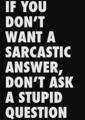 Sarcasm - sarcasm photo