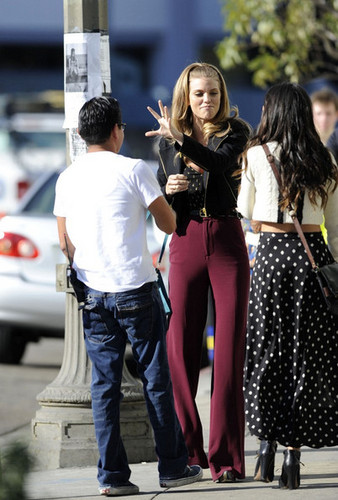 Shenae Grimes on Set 90210