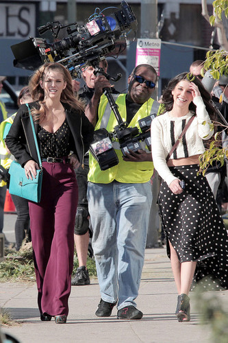 Shenae Grimes on Set 90210