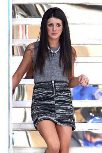 Shenae Grimes on the '90210' Set