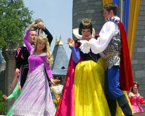 Snow White and Aurora in Disney world - disney-princess Photo