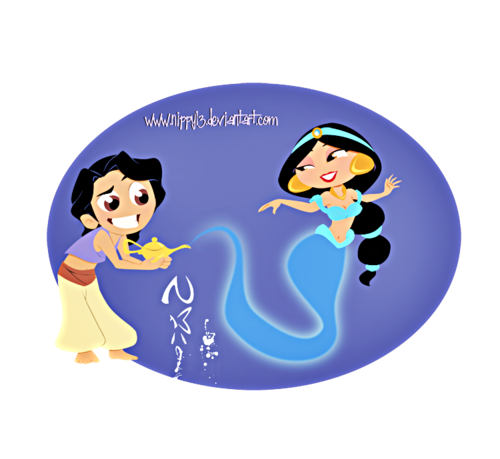 Walt Disney fan Art - Aladdin & Princess gelsomino